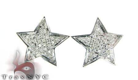 Mini Star Earrings Stone