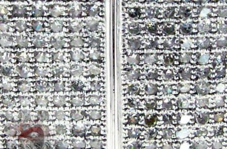 Large Square Hoop Earrings Stone
