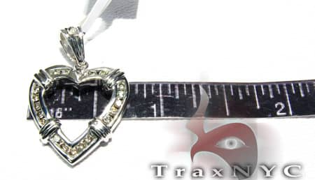 Channel Heart Pendant Stone