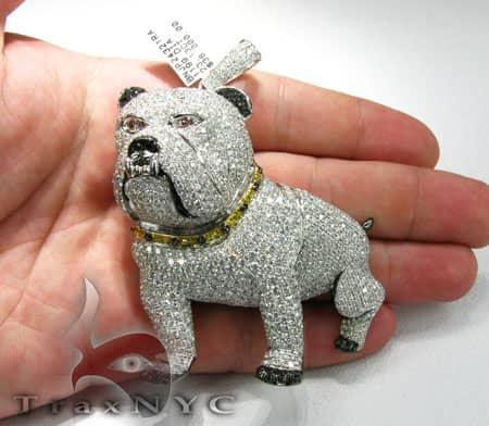 XL Bulldog Pendant Metal
