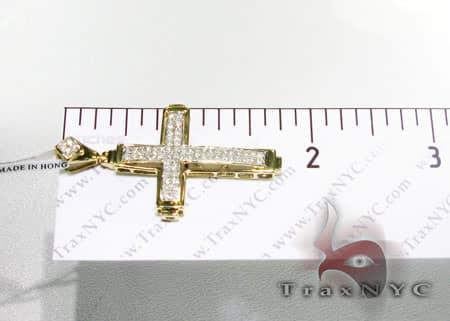 Two Row Mini Pave Cross Crucifix Diamond
