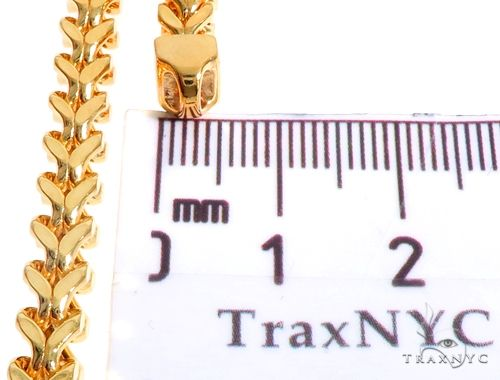 22K Yellow Gold Hollow Franco Link Chain 24 Inches 5.5mm 56.4 Grams 63924 Gold