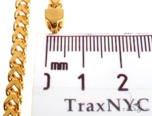 22K Yellow Gold Hollow Franco Link Chain 28 Inches 4.5mm 42.9 Grams 63930 Gold