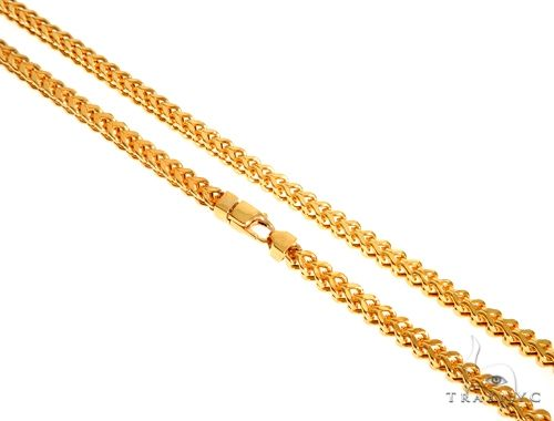 22K Yellow Gold Hollow Franco Link Chain 28 Inches 5.5mm 66.0 Grams 63926 Gold