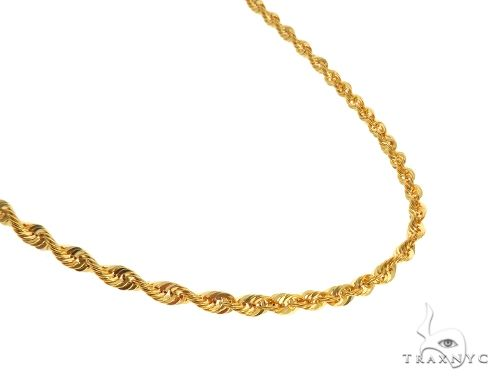 22K Yellow Gold Hollow Rope Link Chain 24 Inches 4mm 11.3 Grams 63565 Gold