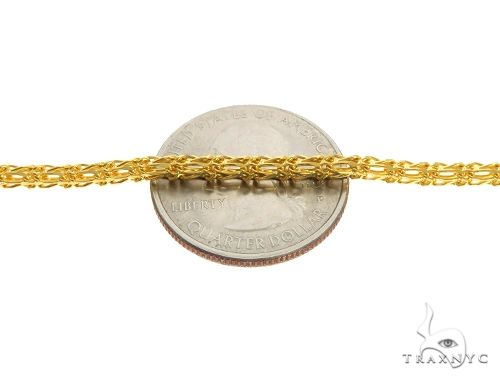 22K Yellow Gold Open Double Wheat Link Chain 20 Inches 3mm 16.9 Grams 63589 Gold