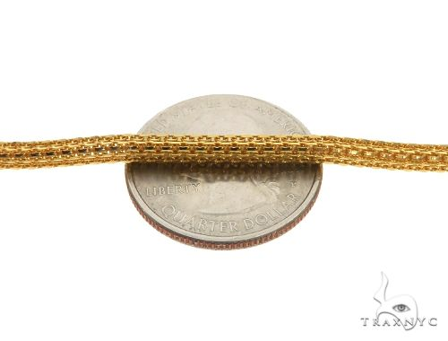 22K Yellow Gold Round Box Link Chain 24 Inches 3.5mm 28.1 Grams 63599 Gold