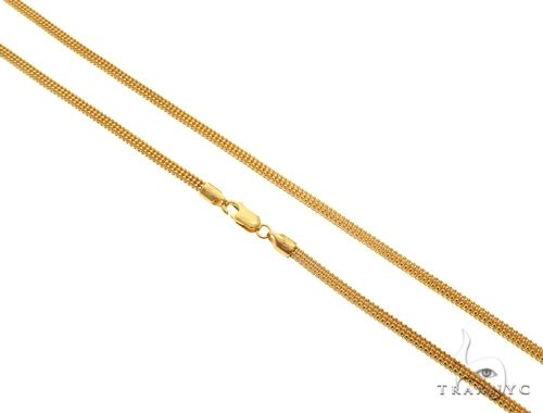 22K Yellow Gold Square Triple Bead Link Chain 26 Inches 2.8mm 29.0 Grams 63596 Gold