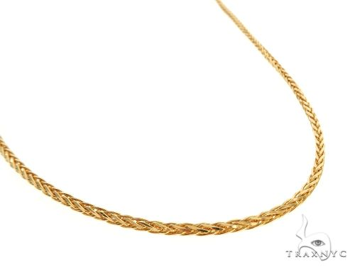 22K Yellow Gold Wheat Link Chain 18 Inches 1.5mm 6.33 Grams 63582 Gold