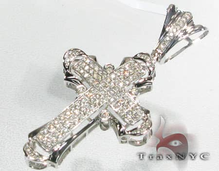 3 Row Mini Pave Cross Diamond