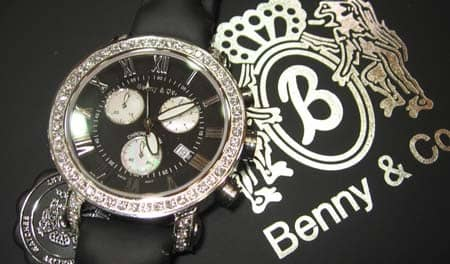Benny & Co Leather Band Watch Benny & Co