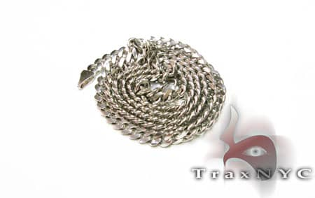 Solid White Gold Chain 26 Inches, 5.5 mm, 42.00 Grams Gold