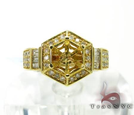 Yellow Gold Prong Semi Mount Engagement