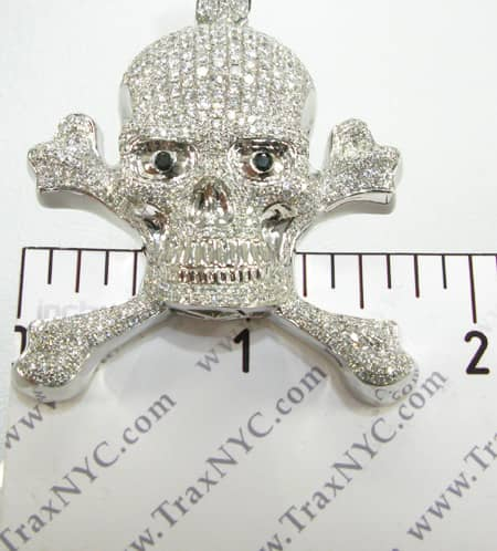 Cross Crucifix Bone Skull Pendant Metal