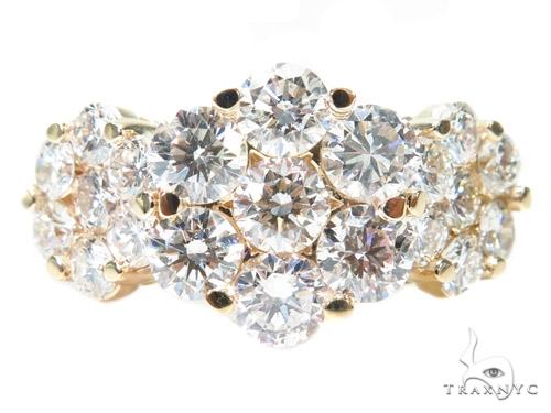 3 Row Chrysanthemum Diamond Ring 40827 Anniversary/Fashion
