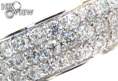 3 Row Diamond Ring 21723 Wedding