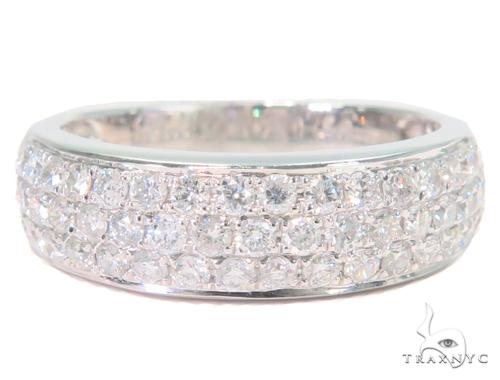3 Row Diamond Wedding Band 45156 Wedding