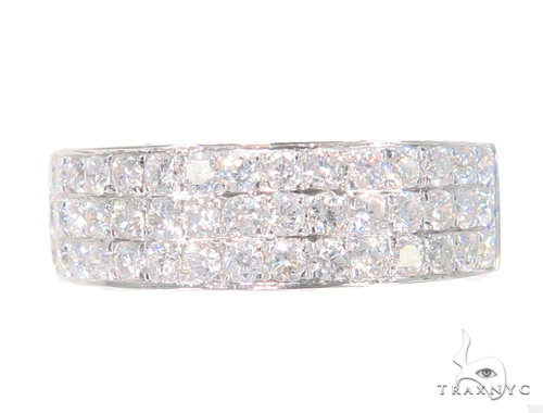 3 Row Diamond Wedding Band 45159 Wedding