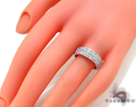 3 Row Pave Diamond Ring 20977 Wedding