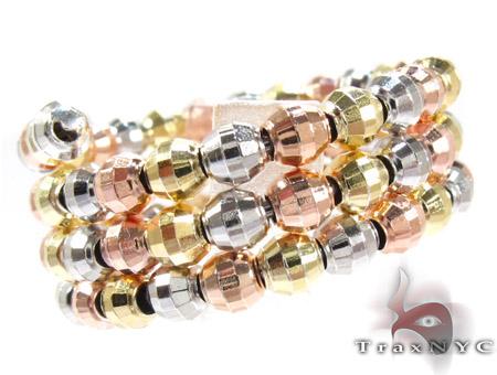 3 Row Three Tone Silver Ring Anniversary/Fashion