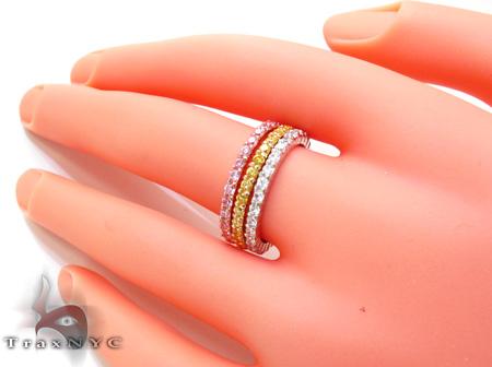 3 Tone CZ Ring 21324 Anniversary/Fashion