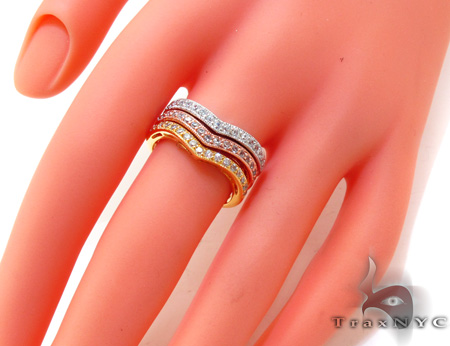 3 Tone Multi Color CZ Ring 21326 Anniversary/Fashion