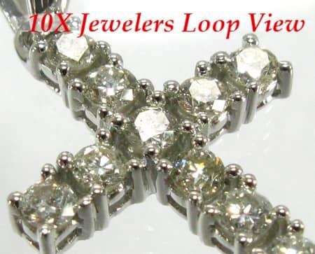 12 Stone Cross Crucifix Diamond