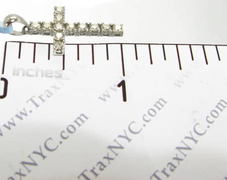 12 Stone Cross Crucifix Diamond