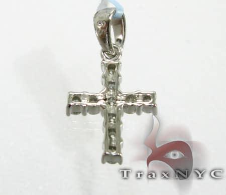 Mini Face Cross Crucifix Diamond
