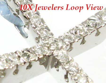 Swoop Cross Crucifix Diamond