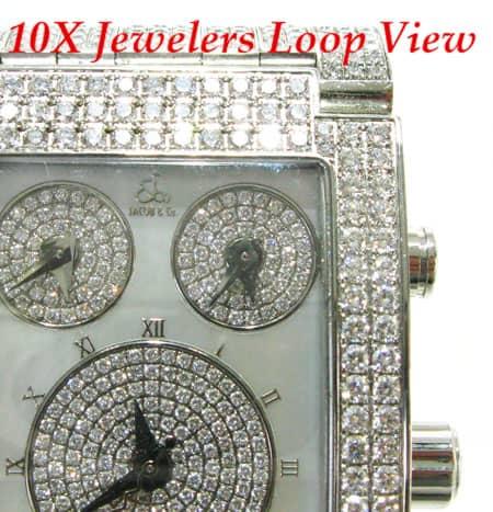Mens JACOB & Co. Fully Iced Diamond Watch Hip Hop Diamond Watches