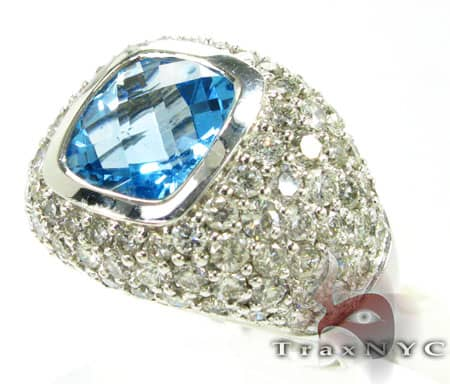 Blue Topaz Ring Anniversary/Fashion