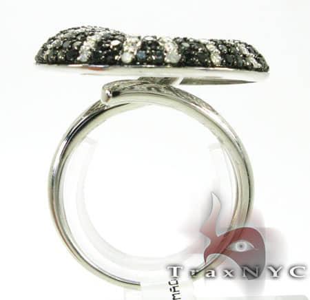 Black & White Diamond Twirl Ring Anniversary/Fashion