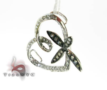 Flower Heart Pendant CH Stone