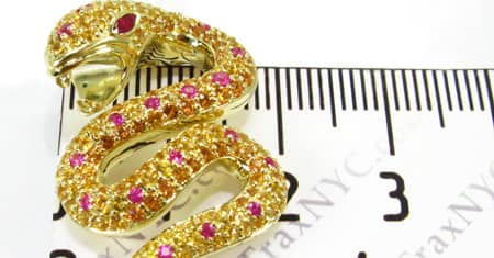 Multi Color Snake Pendant Stone