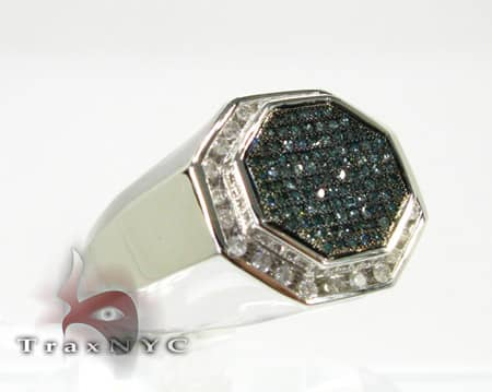 Blue Octagon Ring Stone