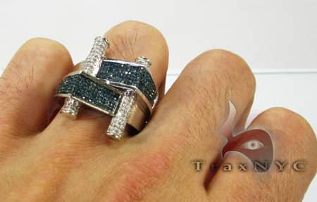 Blue Scroll Ring Stone