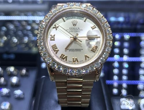 36mm Day-Date I Diamond Rolex Watch 63864 Diamond Rolex Watch Collection