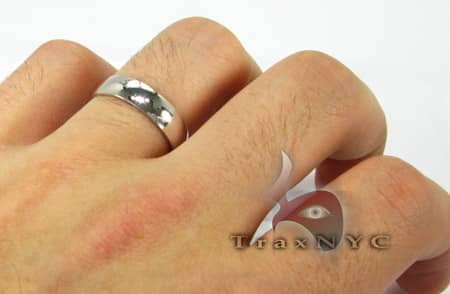 White Gold Solid Band 3 Style