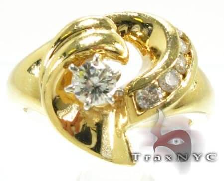 Yellow Gold Channel Solitaire Ring Engagement