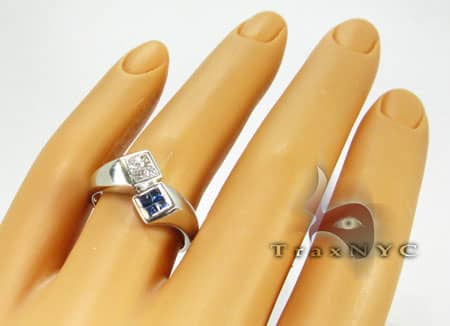 Half & Half Princess Ring Anniversary/Fashion