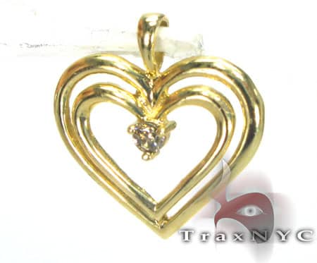 Outline Heart Charm Metal