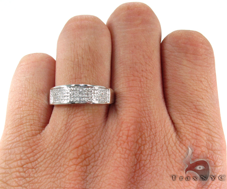 4 Row Diamond Ring 26981 Stone
