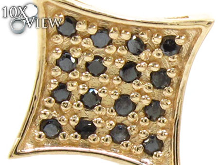 4 Row Round Black Diamonds Stone
