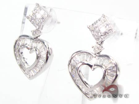 Heart Earrings 8 Stone