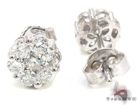 SI Round Cut Stud Earring Stone