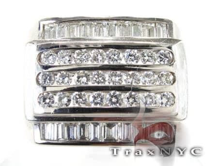 3 Row Ring 2 Stone