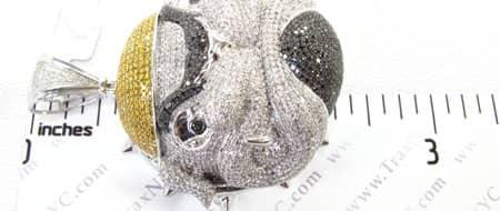 Diamond Bulldog Pendant 2 Metal
