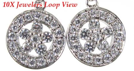 Star Earrings 4 Stone