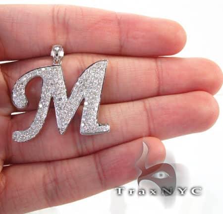 Frozen Initial M Pendant 4973 Metal